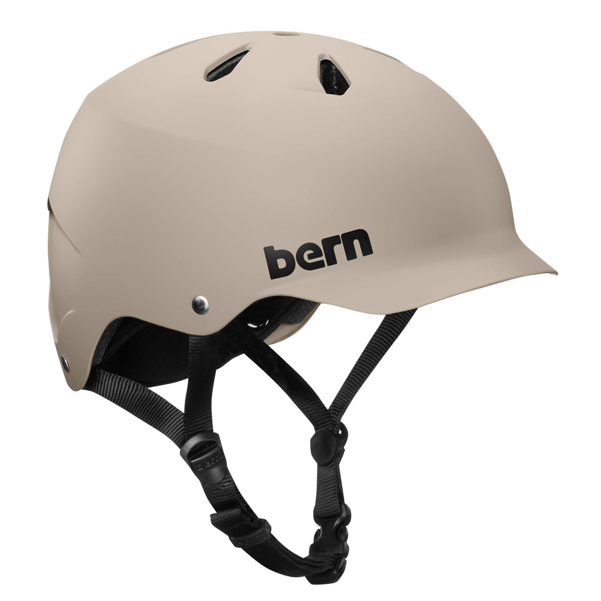 BERN - Summer Watts EPS Helmet, Matte Sand, Large by BERN