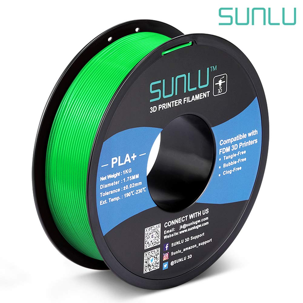 1.75 mm SUNLU Carbon Fiber PLA filament 1kg 1.75mm 3D Printer Filament Dimensional Accuracy +//- 0.02 mm Carbon Fiber Black 1kg Spool