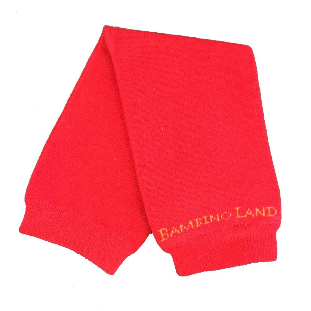Bambino Land Leg Warmers Solid Color Red