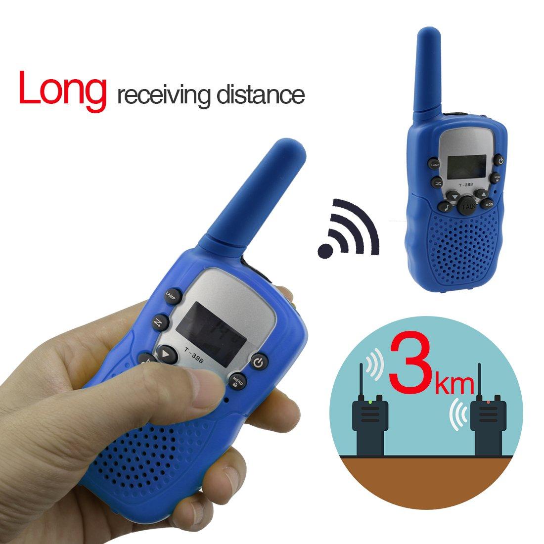 a-szcxtop 2 Pieceトランシーバーのラジオの子供用大人用 – 22チャンネル/Takeについては長い距離インターホンforアウトドアキャンプ旅行 B073STJF94 Deepy Blue Deepy Blue