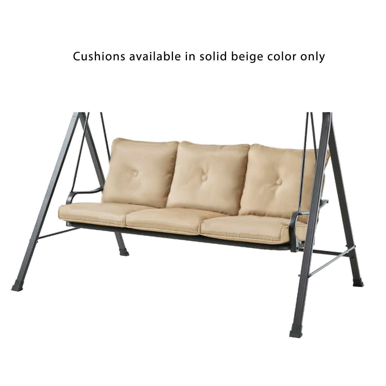 Amazon com garden winds replacement cushion for charleston park swing garden outdoor
