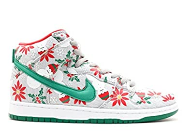Nike Dunk High SB PRM Ugly Christmas Sweater (635525-036) mens Shoes