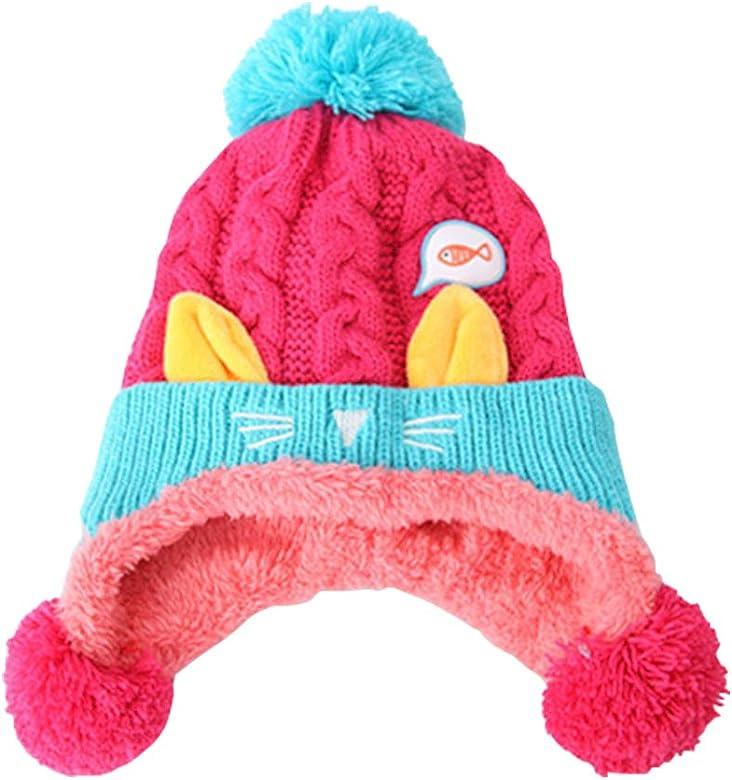 Gogokids Bebé Niños Niñas Gorras Invierno Sombreros de Pompón ...