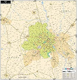 Buy Maps Of India Vinyl Delhi Ncr Map 36x37 Inch Book Online At