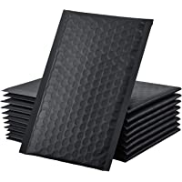 """GSSUSA Black Bubble Mailers, 4x8"""" Inches, 50 Pack, Padded Poly Mailers, Packaging for Small Business, Shipping Bags…"""