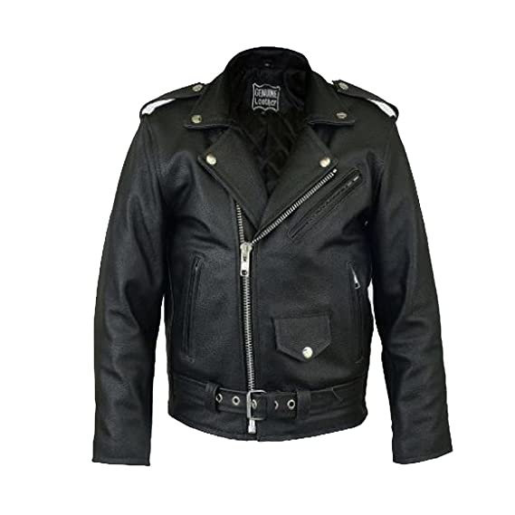8f722de0a8c6 Kids Real 100% Leather Biker Jacket with Zip Fastenings Ages 3 to 13 ...