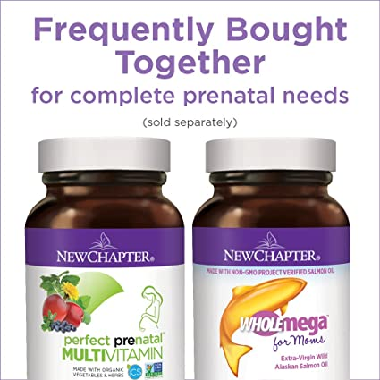 New Chapter Perfect Prenatal Vitamins Fermented with Probiotics + Folate + Iron + Vitamin D3 + B Vitamins + Organic Non-GMO Ingredients - 270 ct Trimester ...