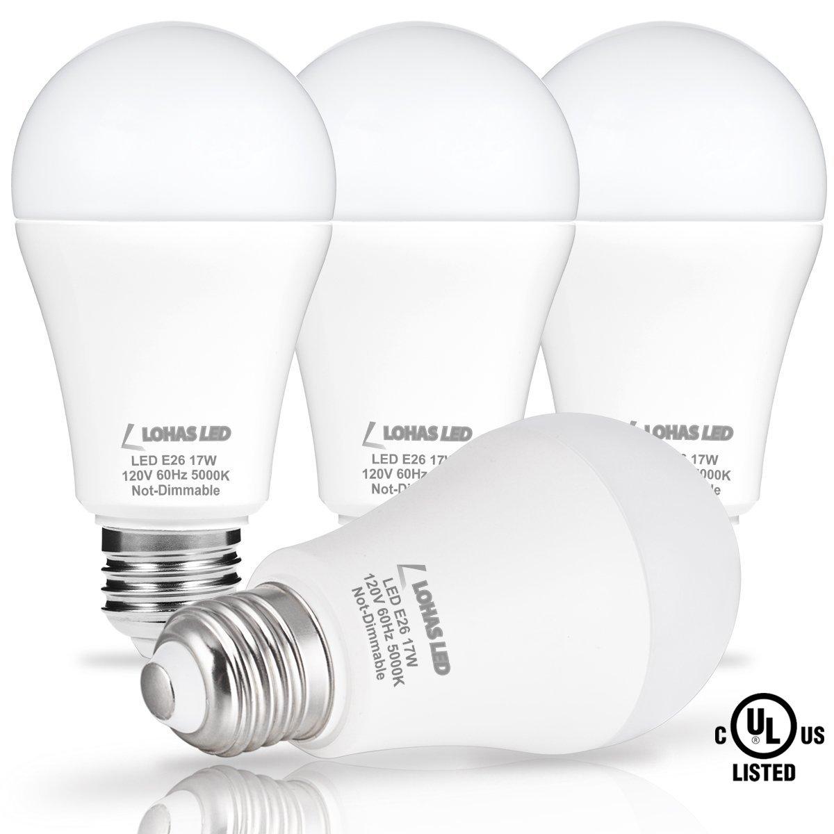 LOHAS LED Bulb 100-150W Equivalent, LED Light Bulbs Daylight 5000k ...