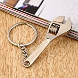 Key Chain Wrench Mini Metal Adjustable Creative Tool Wrench Spanner Key Chain Wrench Ring Key Ring Adjustable Pocket Tools