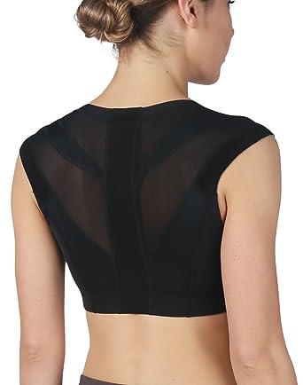 d3ecbe013b781 Intelliskin Womens Essential Bra - Posture Correcting Sports Bra + UV 50  Protection + Ergonomic Seams