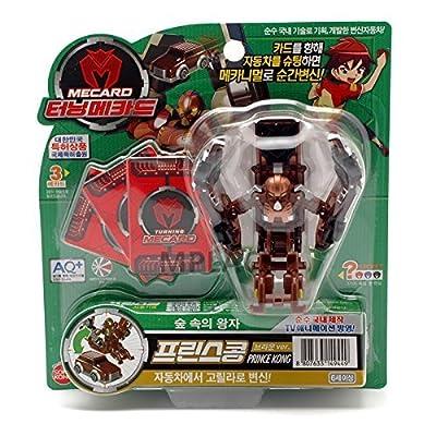 TURNING MECARD Prince Kong Brown Transforming Robot Car Toy: Toys & Games