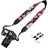 Elvam Camera Neck Shoulder Strap Belt for Nikon / Canon / Sony / Olympus / Pentax / Mini 9 / Mini 8 / Mini 7s / Mini 25 / Mini 50s / Mini 90 / DSLR / SLR / DC / Fujifilm Instax Camera - Floral 05