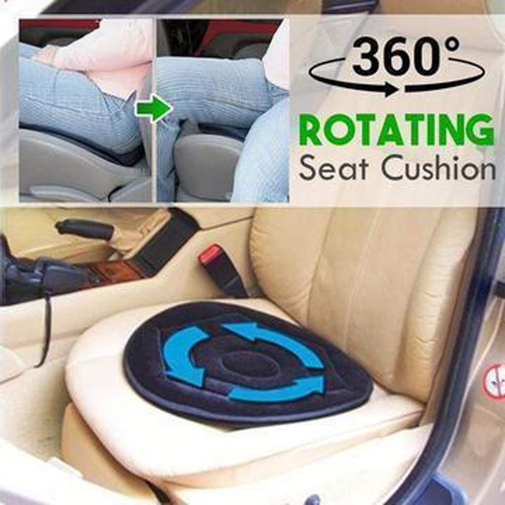Auto-Sitz Amhomely/® Neu!Autositzkissen 360 /° Drehung Kissen F der drehendes Ged/ächtnis-Schaum-Kissen-Schwenker-Mobilit/ätshilfe-Stuhl-Auflage dreht Autozubeh/ör