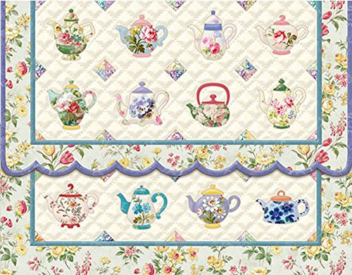 Carol Wilson Teapot Quilt 10 ct Embossed Note Card Set For Arts Sake