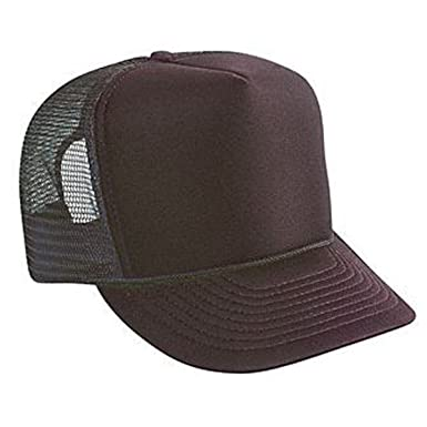 6786b2f2eff Polyester Foam Front Solid Color Five Panel High Crown Golf Style Mesh Back  Cap