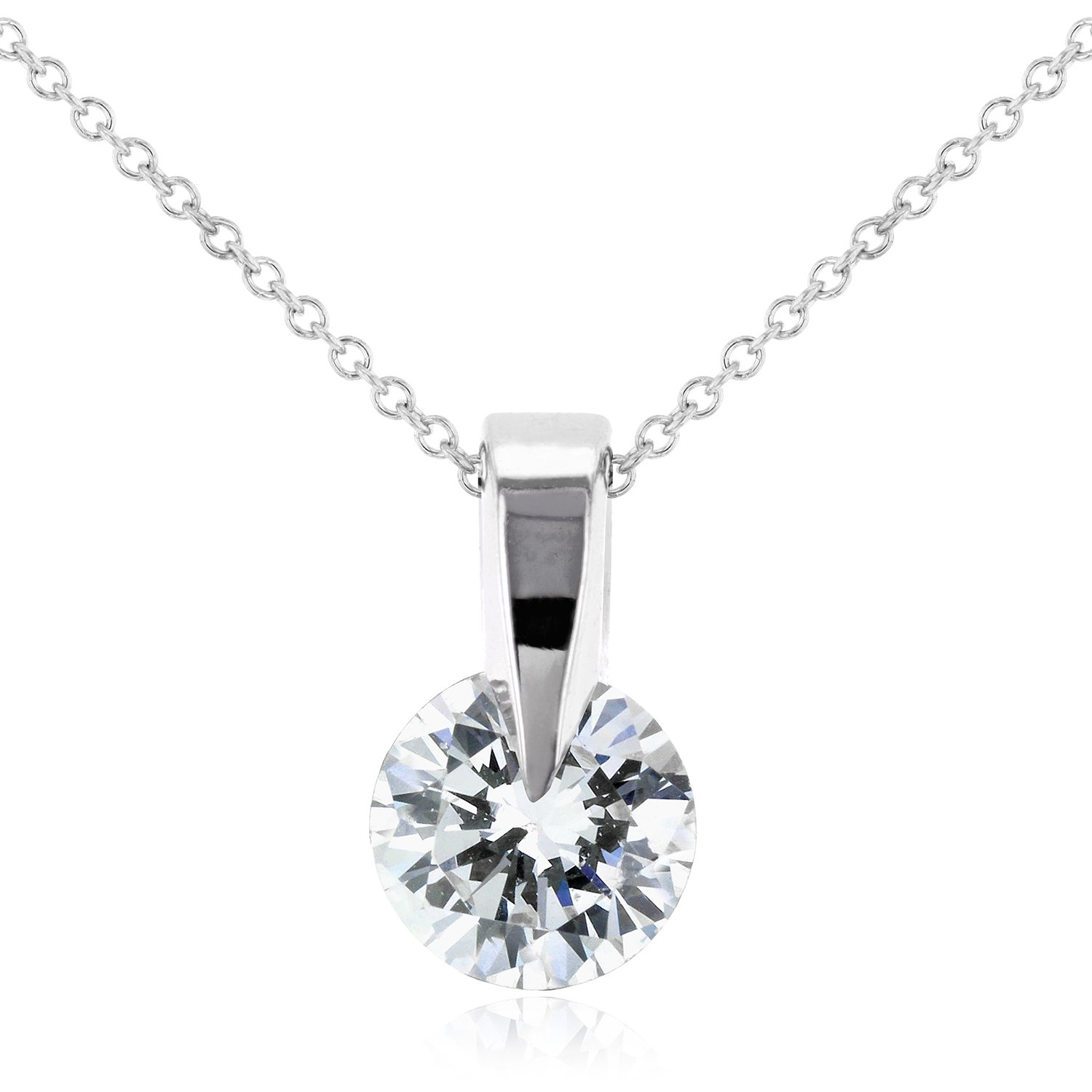 diamond custom halo pendant emerald cut solitaire sapphire pave necklace b