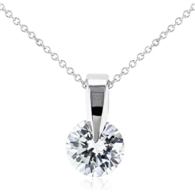 288a3119cc62 Image Unavailable. Image not available for. Color  Floating Diamond  Solitaire Necklace ...