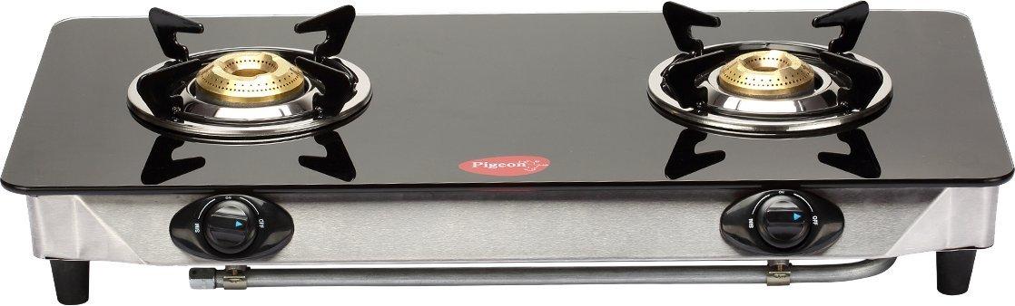 23242aec50e1 Buy Pigeon by Stovekraft Blaze Blackline Glass 2 Burner Cooktop ...