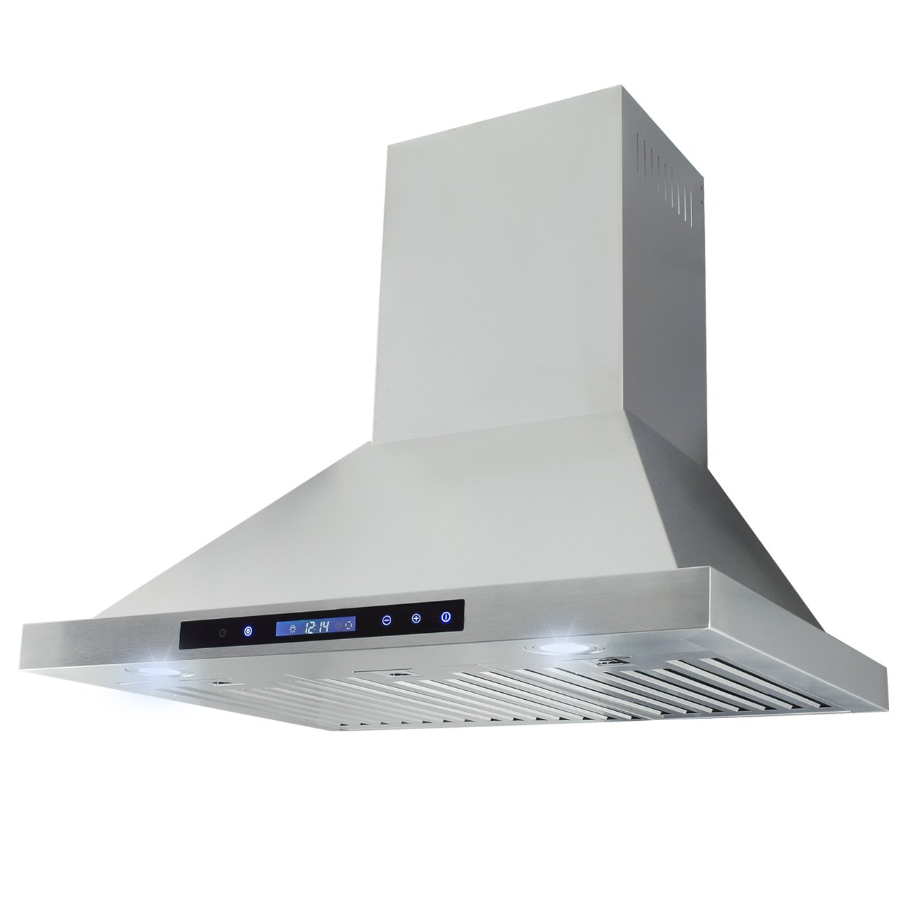 DELLA 36 Panel Control Range Hood Vent Kitchen Wall Mount Silver Cook Touch, Stainless Steel Finish