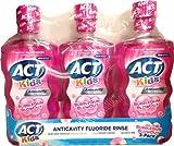 ACT Kids Anticavity Fluoride Rinse, BubbleGum Blowout, 16.9 Bottle by ACT