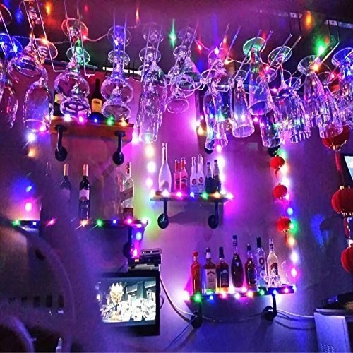 Timewanderer 3M/10Ft 30 Decorative Led Starry Fairy Light AA Battery Operated Bright Micro Ultra Thin String Lights on Silver Wire for DIY (RGB Colorful)
