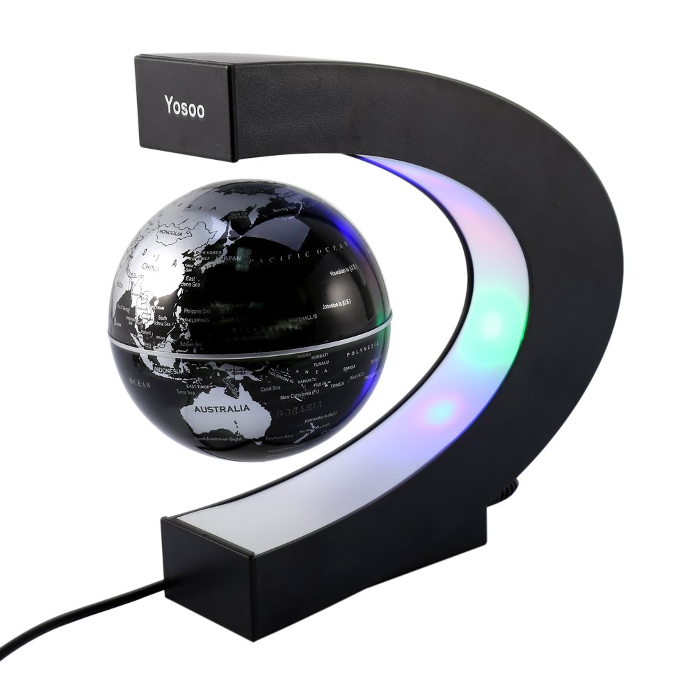 Globo flotante Forma C levitación magnética Rotor luminoso de color la decoración del regalo globo flotante