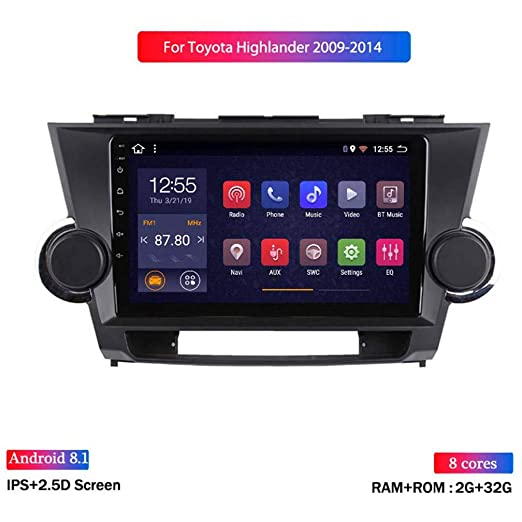 XMZWD 9 Pulgadas Coche GPS Navegación Android 8.1 ...