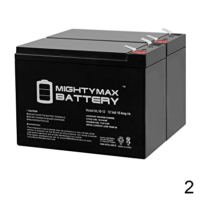 Mighty Max Battery 12V 10AH Scooter Battery for ECO GS12V10Ah, GS 12V10Ah - 2 Pack Brand Product: Home Audio & Theater