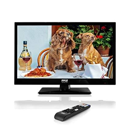 Pyle 18 5-Inch 1080p LED TV | Ultra HD TV | LED Hi Res Widescreen Monitor  with HDMI Cable RCA Input | LED TV Monitor | Audio Streaming | Mac PC |