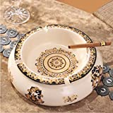 SJQKA-Ashtray Ashtray European Style Retro Ceramic Ashtray Ornaments Creative American Living Room Office Accessories Home Furnishing Ashtray,A