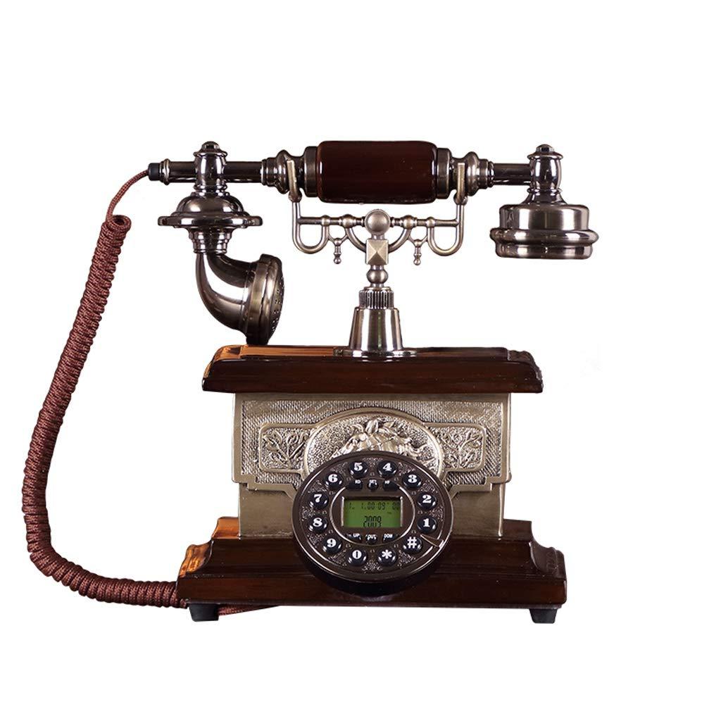 家の固定電話、レトロなビンテージアンティーク有線固定家庭用電話およびオフィスの装飾 (三 : C) B07JLJ38LH B