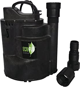 ECO-FLO Products SUP58 Automatic Submersible Utility Pump, 1/3 HP, 2,160 GPH