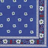 Celebrate the Home Vibrant 3-Ply Paper Luncheon Napkins, 20-Count, Edelweiss, Blue