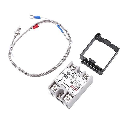 REX-C100 AC110V-240V 0 ℃ - 1300 ℃ Alarma Digital LED Temperatura Controlador: Amazon.es: Industria, empresas y ciencia