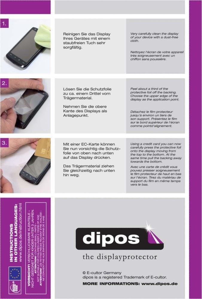 dipos I 2X Protection ecr/án Compatible avec Vorwerk Thermomix TM5 Films de Protection d/écran Transparent