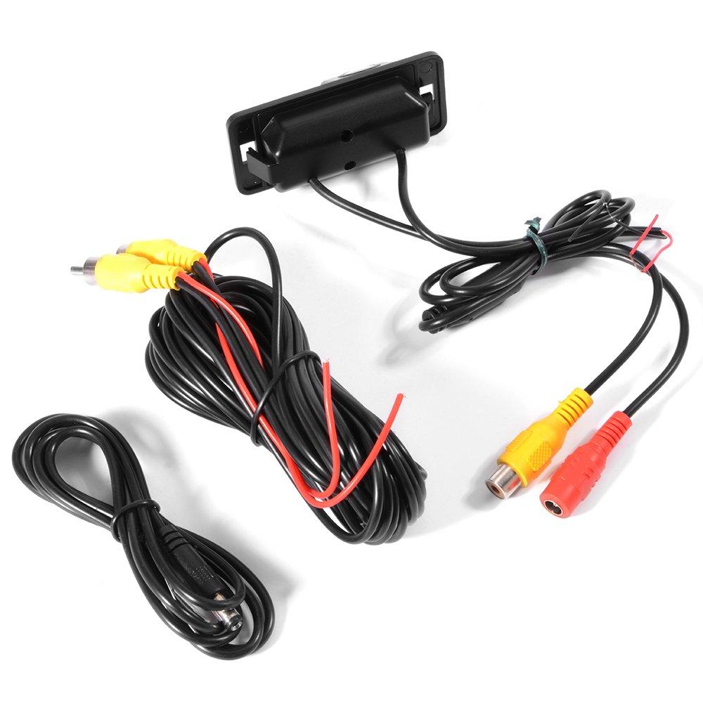 XCSOURCE Cam/éra de Recul sans Fil Marche Arri/ère CCD Emetteur-R/écepteur de Cam/éra de Recul pour BMW 1//3//5//7 s/érie X3 X5 X6 Z4 E39 E53 E46 MA779