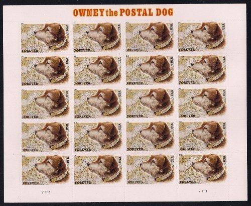 USPS Owney The Postal Dog Sheet of 20 Forever Stamps Scott 4547 - Dog Stamp Postage