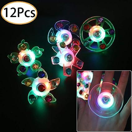 Amazon.com: 12 anillos de luz LED para fiesta, juguete de ...