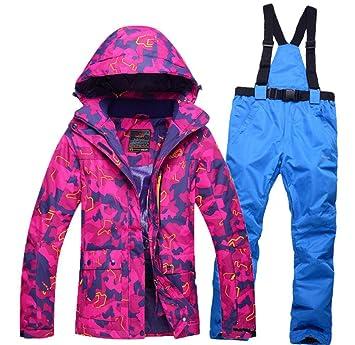 Z&X Chaqueta de esquí para Mujer - a Prueba de Nieve ...