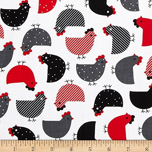 Urban Chick (Urban Zoologie Chicks Red Fabric By The Yard)