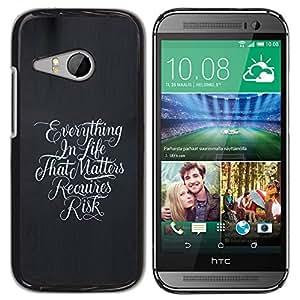 YOYOYO ( NO PARA HTC ONE M8 ) Smartphone Protección Defender Duro Negro Funda Imagen Diseño Carcasa Tapa Case Skin Cover Para HTC ONE MINI 2 M8 MINI - todo en la vida cuesta riesgo