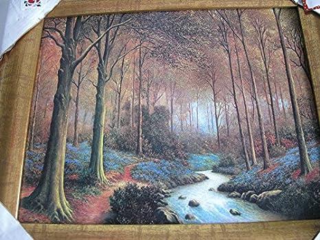 Wooden Picture Frames Cadre En Bois Avec Peinture Sur Toile Amazon Ca Home Kitchen