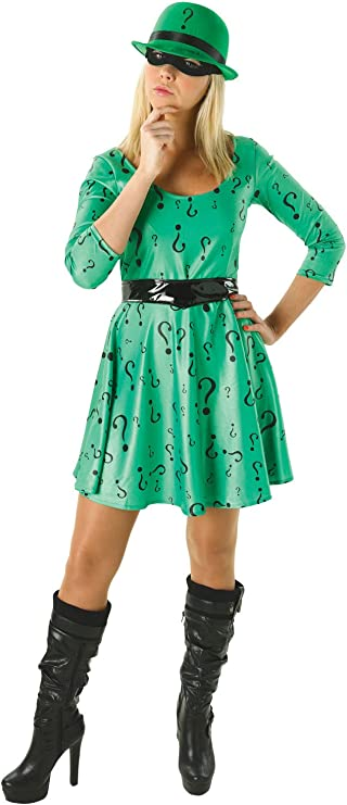 Rubies - Disfraz Oficial de DC cómic Riddler para Mujer, Disfraz ...