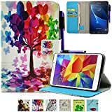 Galaxy Tab A 7-Inch Case, UUcovers Kickstand Wallet TPU Case Hybrid Synthetic Leather