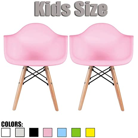 Amazon.com: 2xhome - Set of Two (2) - Pink - Kids Size Eames ...