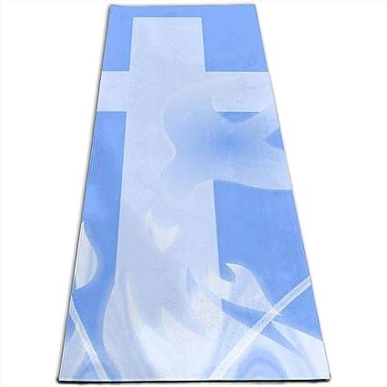 Amazon.com: Yoga Mat Non Slip The Dove of Peace 24 X 71 ...