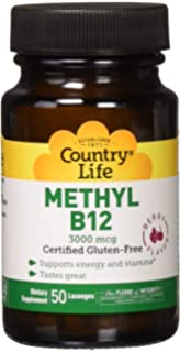 Country Life Biochem Formulas Superior B-12 Lozenges, 3000 Mcg , 50-Lozenge