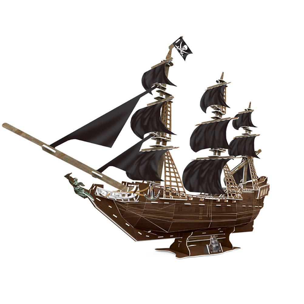 YRE 3Dパズル ステレオ 3Dパズル 子供と大人用 DIY ジグソーパズル 子供と大人用 DIY 海賊船モデル 紙 ステレオパズル B07KT5M814, ファッションウォーカー:8c2a8434 --- m2cweb.com