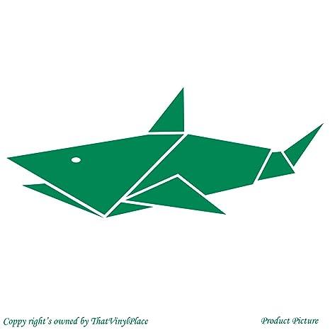 Origami Squalo Pesce 19 Cm X 8 Cm Colore Verde Bagno Camera Dei