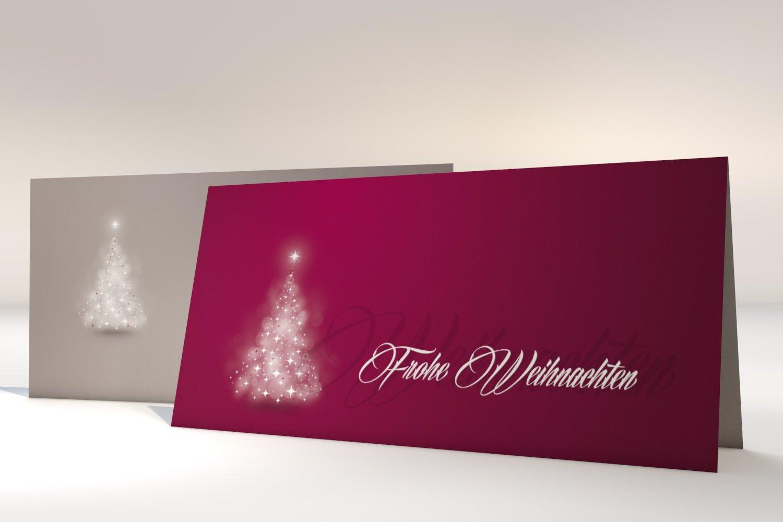 """Weihnachtskarten mit Umschlag, 50er Set Set Set Motiv """"Grünräumter Lichterbaum ROT , Klappkarten selbst bedruckbar B0191YW1SO   Zuverlässige Qualität  e1413a"""